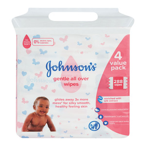 Johnson's Baby Wipes Gentle All Over 288's