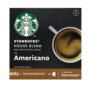 Starbucks® House Blend by Nescafé® Dolce Gusto® Medium Roast Coffee Capsules box of 12