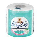 BABY SOFT T/P MINI WHITE 2PLY SING 200SH