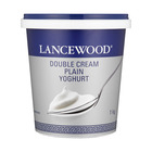 Lancewood Double Cream Plain Yoghurt 1kg