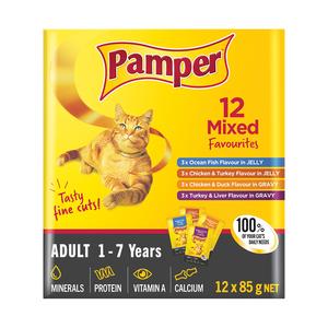 Pamper Friskies Mixed Multi Pack Fine Cuts 12 x 85g