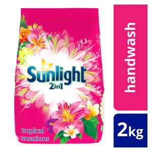 Sunlight Hand Washing Powder 2In1 Tropical Sensations 2kg