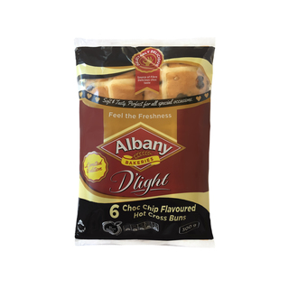 Albany D'light Choc Chip Flavoured Hot Cross Buns 300g