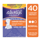 ALWAYS PANTY LINERS REGULAR WRAPPED 40EA