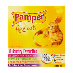 Pamper F/cuts County Favourites 12x85g