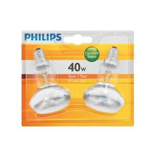 Philips STD Spot R50 40W Small Screw In  2 Pack