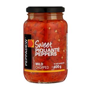 Peppadew Sweet Piquante Peppers Mild Chopped 400g
