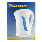 PINEWARE CORDLESS KETTLE WHITE PSCK845
