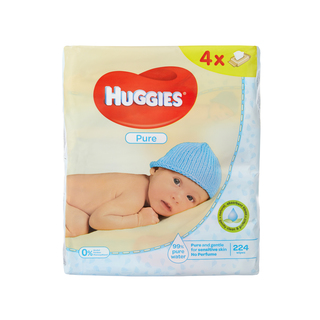 Huggies Baby Wipes Pure 224s