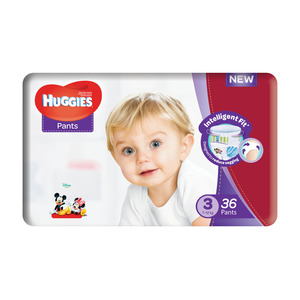 HUGGIES DISPOSABLE PANTS UNISEX SZ3 36EA