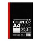 PnP A4 192 Page Counter Book  Fine Margin
