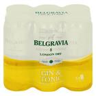 Belgravia Gin & Tonic Can 440ml x 6