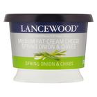 Lancewood Medium Fat Spring Onion & Chives Flavoured Cream Cheese 230g