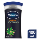 Vaseline Men Body Lotion Soothing 400ml