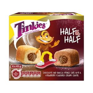 Tinkies Half & Half Chocolate Vanilla Flavoured Creamy Sponge Cake 6s