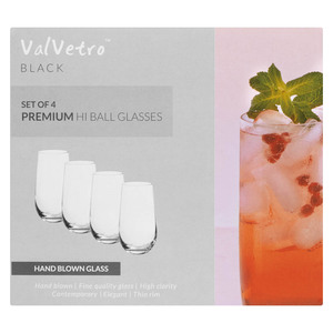 Valvetro Black Hi Ball 500ml 4ea