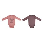 Baby Girls Bodyvest 2 Pack New Born Peach and Rose Pink