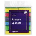 PnP Rainbow Sponges 12ea