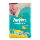 Pampers New Born Nappies Value Pack 43s