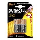 Duracell Alkaline Batteries Plus Power AAA 4+2