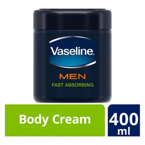 Vaseline Men Body Cream Fast Absorbing 400ml