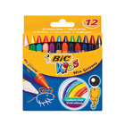 BIC Kids Wax Crayons 12s