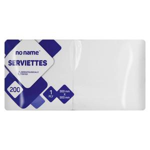 PnP No Name Serviettes White 200ea