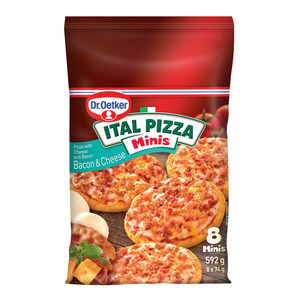 Dr.Oetker Ital Pizza Minis Bacon & Cheese 8s