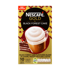 Nescafe Gold Black Forest Cake Flavoured Cappuccino Sachets 10s