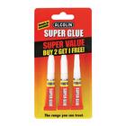 Alcolin Super Glue V/PK 2+1 Free