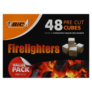 Bic Firelighters Pre-Cut Cubes 48ea