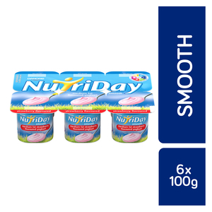 Danone Nutriday Smooth Strawberry Yoghurt 6s