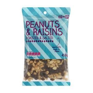 PnP Peanuts & Raisins 450g
