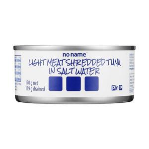 PnP No Name Shredded Tuna In Salt Water 170g