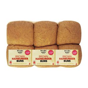 PnP Brown Hamburger Buns 6s