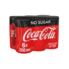 Coca-Cola Zero 200ml x 6