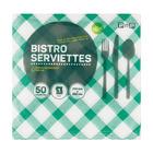 PnP 1ply Bistro Serviettes Green 50ea