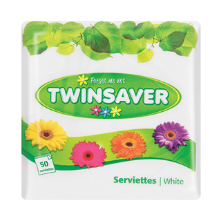 Twinsaver Assorted Serviettes 50ea