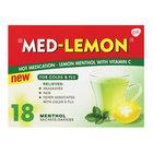 Med-Lemon Menthol Hot Medication for Colds & Flu 18s x 12
