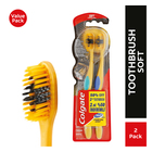 Colgate 360 Charcoal Gold Soft Toothbrush 2 Pack