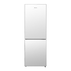 Hisense 420l Glass Combi Fridge White