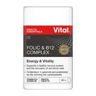 Vital Folic Acid And B12 Complex Tablets 60ea