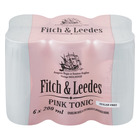 FITCH&LEEDES PINK TONIC S/FREE CAN 200ML x 6
