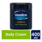 Vaseline MEN Fast Absorbing Moisturising Body Cream 400ml