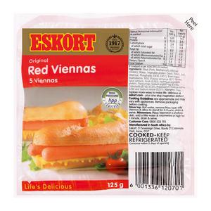 ESKORT RED VIENNAS 125GR