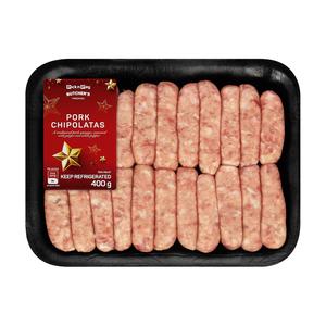 PnP Pork Chippolatas 400g