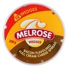 Melrose Bacon Cheese Wedges 200g