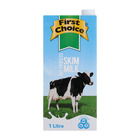 First Choice UHT Skim Milk 1l