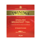 Twinings English Breakfast Tagless Teabags 50ea