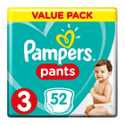 Pampers Baby-Dry Size 3 Value Pack, 52 Nappy Pants